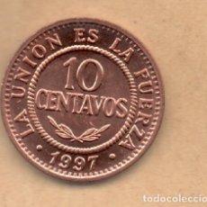 Monedas antiguas de América: BOLIVIA 10 CENTAVOS 1997 SC KM202. Lote 135790102