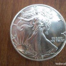 Monedas antiguas de América: ONE DOLLAR USA 1989 1OZ PLATA 999 31 GR. Lote 115744683