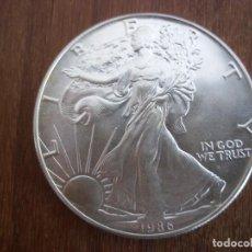 Monedas antiguas de América: ONE DOLLAR USA 1986 1OZ PLATA 999 31 GR. Lote 115745071
