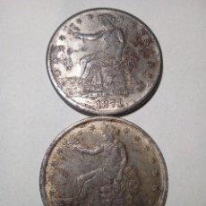 Monedas antiguas de América: 1871 - 2 MONEDAS COMERCIALES ESTADOS UNIDOS. Lote 115890019