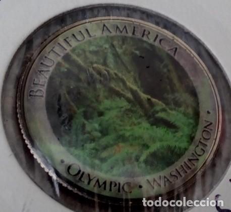 CURIOSA MONEDA 1/4 DOLAR DE ESTADOS UNIDOS CON IMAGEN DEL PARQUE NACIONAL OLYMPIC DE WASHINGTON (Numismática - Extranjeras - América)