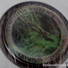 Monedas antiguas de América: CURIOSA MONEDA 1/4 DOLAR DE ESTADOS UNIDOS CON IMAGEN DEL PARQUE NACIONAL OLYMPIC DE WASHINGTON. Lote 116588699