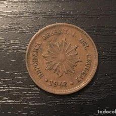 Monedas antiguas de América: MONEDA 2 CENTÉSIMOS URUGUAY 1948. Lote 116847559