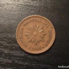 Monedas antiguas de América: MONEDA 2 CENTÉSIMOS URUGUAY 1948. Lote 116864219