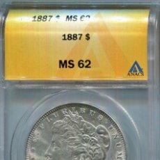 Monedas antiguas de América: DOLAR MORGAN AÑO 1897 FILADELFIA ( ESTADOS UNIDOS ) S.C. CERTIFICADA - PLATA. Lote 116911167