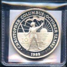 Monedas antiguas de América: BAHAMAS, MONEDA DE PLATA, CHRISTOPHER COLUMBUS, 10 DOLLARS, SILVER COIN PROOF, 1989. Lote 117087771