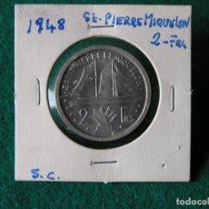 Monedas antiguas de América: MONEDA 2 FRANCOS ISLA SAINT PIERRE ET MIQUELON - 1948 - ALUM. - SC. Lote 117668003