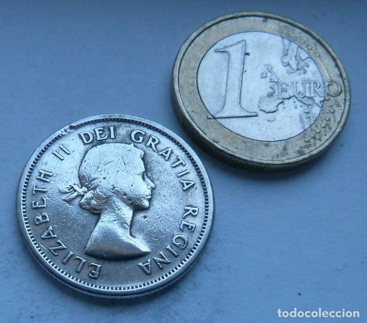 Monedas antiguas de América: MONEDA DE PLATA DE 25 CENTAVOS DE CANADA AÑO 1958 - Foto 2 - 117862771
