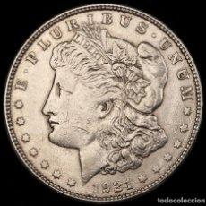 Monedas antiguas de América: USA 1 DOLAR MORGAN 1921-S SAN FRANCISCO EBC. Lote 118519579