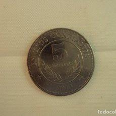 Monedas antiguas de América: NICARAGUA 5 CÓRDOBAS, 2014, ACERO INOXIDABLE. Lote 118678699