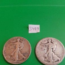 Monedas antiguas de América: USA, LOTE DE DOS 1/2 DOLAR DE 1943. PLATA. Lote 118753179