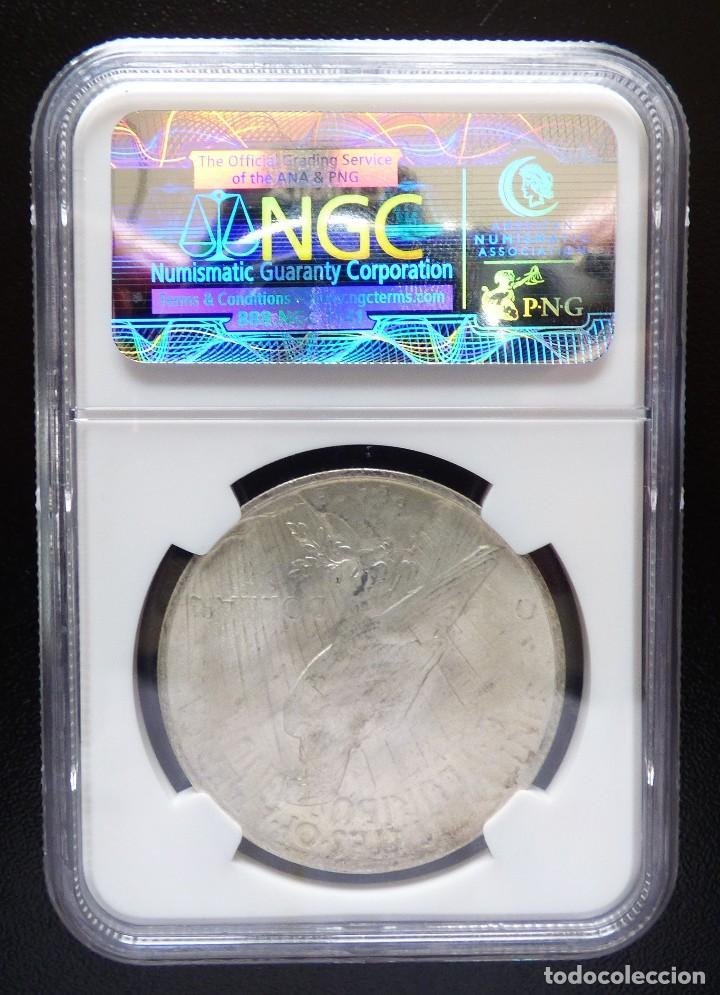 Monedas antiguas de América: USA 1 DOLAR TIPO PAZ 1923 NGC MS63 S/C - Foto 2 - 119437763