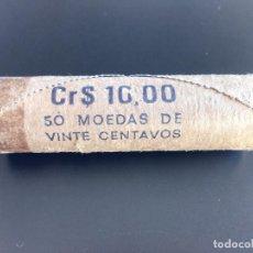 Monedas antiguas de América: CARTUCHO ORIGINAL BRASIL 20 CRUCEIROS CRUZEIROS 1984 CON 50 MONEDAS NUEVAS. Lote 119772103