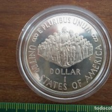 Monedas antiguas de América: ONE DOLLAR USA 1987 PLATA CONSTITUTION BICENTENNIAL. Lote 120003431
