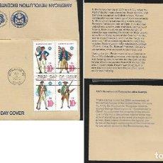 Monedas antiguas de América: SOBRE CON MONEDA * 1975 BICENTENNIAL FIRST DAY COVER * PAUL REVERE - EEUU. Lote 120278927