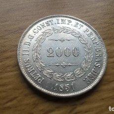 Monedas antiguas de América: BRASIL. 2000 REIS DE PLATA DE 1851. EBC+. Lote 128669248