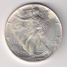 Monedas antiguas de América: MONEDA DE DÓLAR LIBERTY DE ESTADOS UNIDOS DE 1993. PLATA. SIN CIRCULAR. WORLD COIN-KM273. Lote 121357291