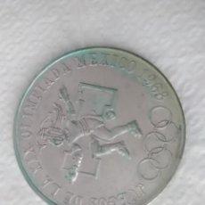 Monedas antiguas de América: MONEDA PLATA ESTADOS UNIDOS MEXICANOS 25 PESOS JUEGOS DE LA XIX OLIMPIADA MÉXICO 1968 . Lote 121401407