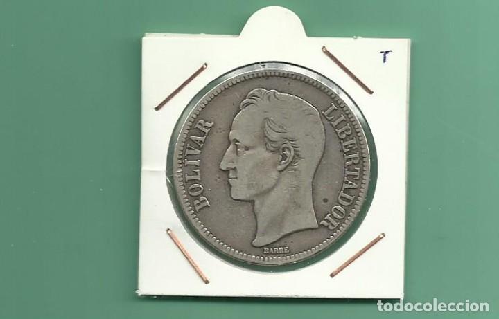 PLATA-VENEZUELA-5-BOLIVARES-1926-25-GRAMOS-LEY-0-900 (Numismática - Extranjeras - América)