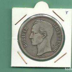 Monedas antiguas de América: PLATA-VENEZUELA-5-BOLIVARES-1926-25-GRAMOS-LEY-0-900. Lote 121528011