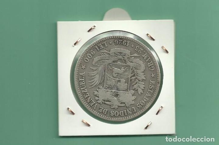 Monedas antiguas de América: PLATA-VENEZUELA-5-BOLIVARES-1926-25-GRAMOS-LEY-0-900 - Foto 2 - 121528011