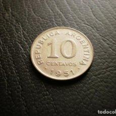 Monedas antiguas de América: ARGENTINA 10 CENTAVOS 1951. Lote 121927639