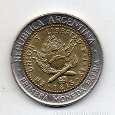 Monedas antiguas de América: ARGENTINA. 1 PESO. AÑO 1996. SIN CIRCULAR. BIMETÁLICA.. Lote 122139191