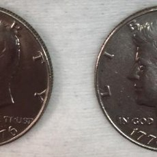 Monedas antiguas de América: USA - DOS MONEDAS **HALF DOLLAR ¨1976**-**KENNEDY-BICENTENNIAL** - BIEN CONSERVADAS. Lote 122251231