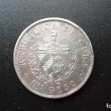 Monedas antiguas de América: PESO CUBA TIPO ESTRELLA - 1934- PLATA. Lote 122413619