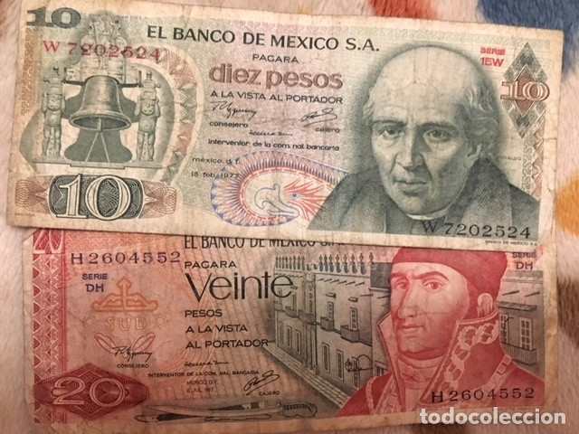 Monedas antiguas de América: LOTE DE BILLETES MEXICANOS USADOS - Foto 9 - 101572203