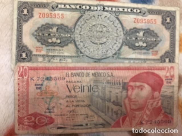 Monedas antiguas de América: LOTE DE BILLETES MEXICANOS USADOS - Foto 10 - 101572203