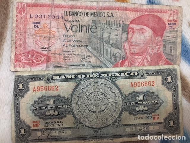 Monedas antiguas de América: LOTE DE BILLETES MEXICANOS USADOS - Foto 11 - 101572203