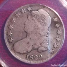 Monedas antiguas de América: MONEDA ESTADOS UNIDOS DE MEDIO DOLAR 1829 ANACS - CAPPED BUST HALF DOLLAR - PLATA. Lote 149819974