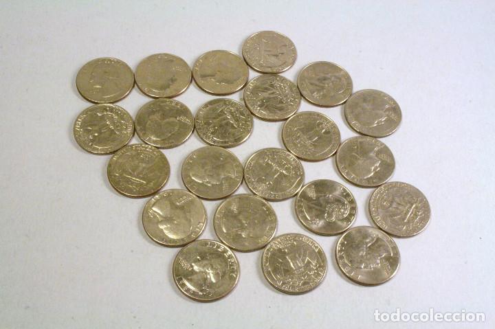 LOTE 22 MONEDAS USA - VER DESCRIPCION (Numismática - Extranjeras - América)