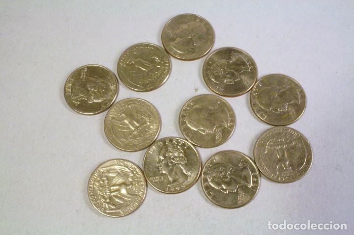 LOTE DE 11 MONEDAS USA - VER DESCRIPCION AÑOS Y IMPORTES (Numismática - Extranjeras - América)