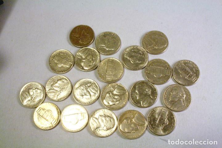 LOTE DE 20 MONEDAS USA FIVE CENTS - VER DESCRIPCION (Numismática - Extranjeras - América)