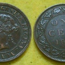 Monedas antiguas de América: CANADA ONE CENT 1901 REINA VICTORIA. Lote 35169117