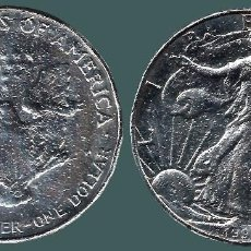 Monedas antiguas de América: AMERICAN SILVER EAGLE 1 OZT DOLLAR SLIGHT ALBUM TONING TONED .999 BULLION - 1997. Lote 126696443