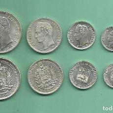 Monedas antiguas de América: PLATA-VENEZUELA. 4 MONEDAS DE 4 VALORES. 0,25, 0,50 CENTAVOS, 1 Y 2 BOLIVARES. Lote 176734273