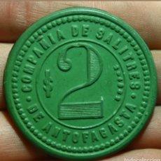 Monedas antiguas de América: 2 PESOS COMPAÑIA DE SALITRES DE ANTOFAGASTA. Lote 125139367