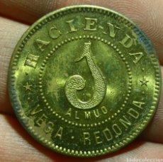 Monedas antiguas de América: 1 ALMUD HACIENDA VEGA REDONDA PUERTO RICO 1880/90. Lote 125139836
