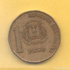 Monedas antiguas de América: REPUBLICA DOMINICANA - 1 PESO 1992. Lote 125196199