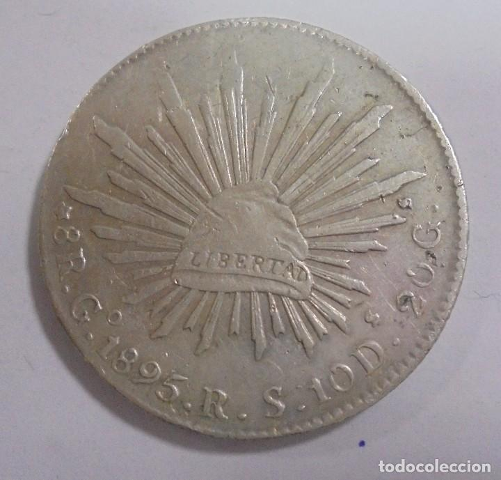 Monedas antiguas de América: MONEDA. GUANAJUATO. MEXICO. 8 REALES. 1895. VER - Foto 2 - 125400691