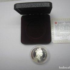 Monedas antiguas de América: CANADÁ, ESTUCHE Y GARANTIA DE 1 DOLAR DE PLATA DE 1990. KELSEY.. Lote 126376319