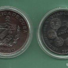 Monedas antiguas de América: CUBA: MONEDA DE 1 PESO 2009.50 ANIVERSARIO REVOLUCIÓN. COBRE. Lote 139770009