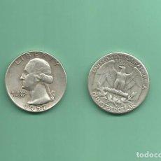 Monedas antiguas de América: PLATA-USA. 2 MONEDAS DE QUARTER 1957,1957-D . MONEDAS DE 6,25 GR.LEY 0,900. Lote 126494115