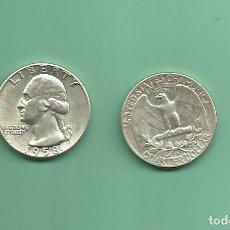 Monedas antiguas de América: PLATA-USA. 2 MONEDAS DE QUARTER 1958,1958-D . MONEDAS DE 6,25 GR.LEY 0,900. Lote 126494271