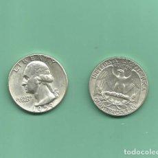 Monedas antiguas de América: PLATA-USA. 2 MONEDAS DE QUARTER 1959,1959-D . MONEDAS DE 6,25 GR.LEY 0,900. Lote 126494479