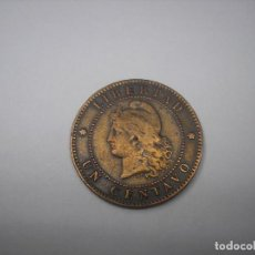 Monedas antiguas de América: ARGENTINA, 1 CENTAVO DE COBRE DE 1890.. Lote 128320834