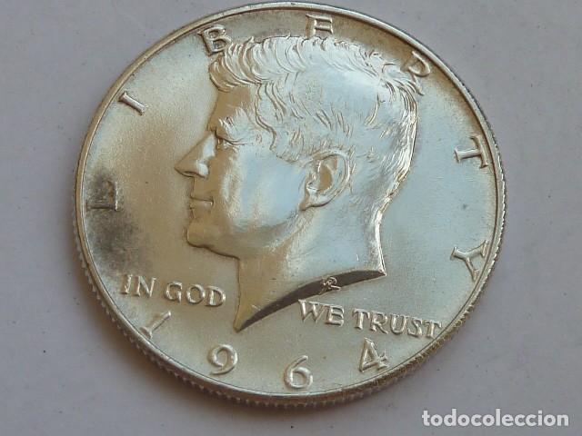 MONEDA DE PLATA DE 1/2 DOLAR DE 1964 KENNEDY CECA FILADELFIA, ESTADOS UNIDOS, EBC+ (Numismática - Extranjeras - América)